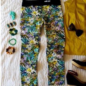 🆕️🌺Balenciaga.Paris Floral Jeans Pants